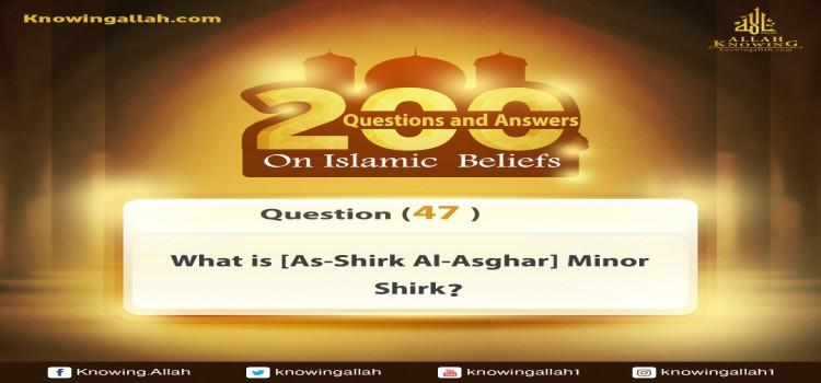 Q 47: What is [As-Shirk Al-Asghar] Minor Shirk (polytheism)? ,