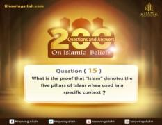 Q 15: What is the proof that Islam is defined as being the five pillars of this religion when considered in detail?