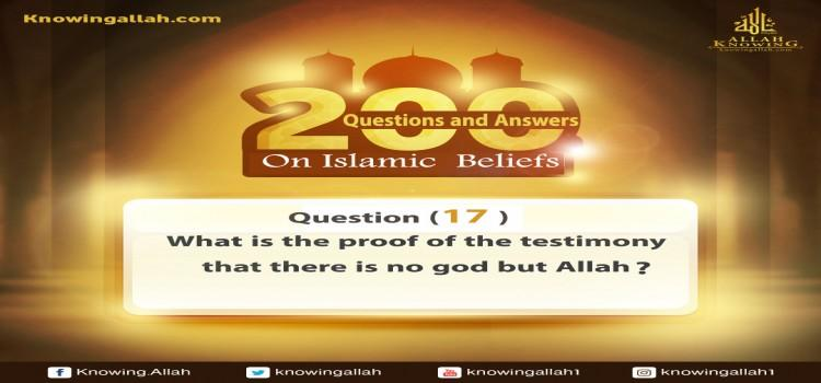 Q 17: What is the proof of the testimony that there is no god but Allah?​