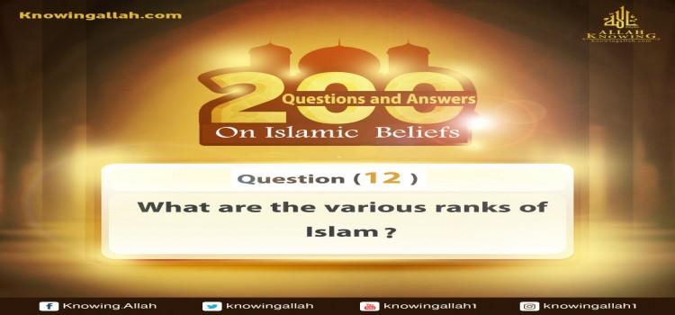 Q 12: How many are the grades of Islam?